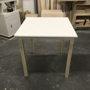 White Wood Table